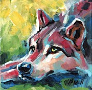 Christine Karron Metal Prints - Red Wolf Metal Print by Christine Karron