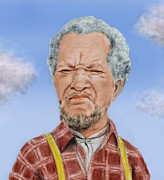 Mustache Art - Redd Foxx as Fred Sanford by Jim Fitzpatrick