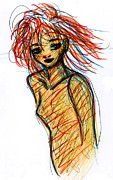 Redhead I Print by Rachel Scott
