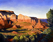 Iron Oxide Paintings - Redrock Afternoon by SJW Grogan
