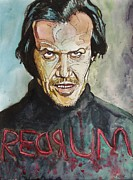 Jack Nicholson Painting Originals - Redrum by Jeremy Moore