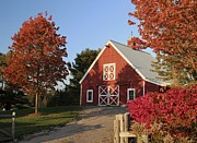 Red Barn. New England Prints - Reds Print by Karin Pinkham