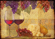 Malbec Paintings - Reds by Laurie Cook