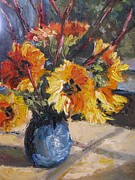 Wendie Thompson - Redtwigs and Sunflowers