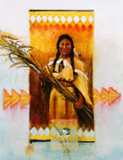 Indigenous Culture Mixed Media - Reed Gatherer by Rob Corsetti