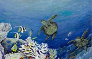 Seahorses Originals - Reef Life by David Kelly