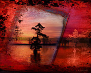 Layered Textures Prints - Reelfoot Sunrise Print by J Larry Walker