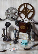 Movie Framed Prints - Reels Framed Print by Clinton Hobart