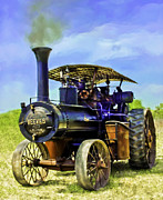 Greyhound Photos - Reeves Steam Traction Engine by F Leblanc