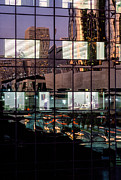 Down Town Los Angeles Framed Prints - Refelctions Framed Print by David Tuthill