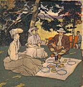Refined Picnic 1904 Print by Padre Art