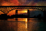 Cuyahoga River Digital Art Framed Prints - Reflecting At Days End Framed Print by Dale Kincaid