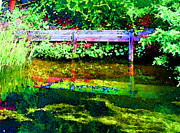 Burger Prints - Reflecting Pond Print by Lenore Senior and Sharon Burger