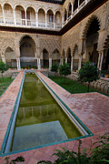 Moorish Originals - Reflecting pool Alcazar de Seville Andalucia Spain by Dan Hartford