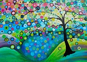 Fantasy Tree Art Paintings - Reflecting by Shirley Smith