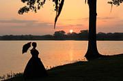Reflecting Sunrise Belle Print by Leslie Kirk