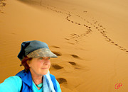 Selfportrait Photos - Reflection Desert Time Egypt by Colette V Hera  Guggenheim