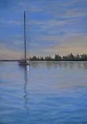 Greeting Card Pastels Originals - Reflection by Joanne Grant