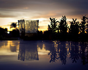 Reflection Ceramics Metal Prints - Reflection Metal Print by Kingsley  Gicalde