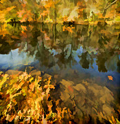 David Letts - Reflection of Autumn Colors on the Canal II