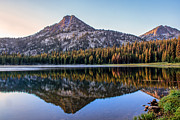Awesome Prints - Reflection Of Gunsight Mountain Print by Robert Bales