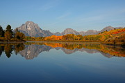 Reflection Of Mount Moran In Autumn Print by Jetson Nguyen