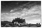 Reflection Of Royal Park Rajapruek Temple In The Water  Print by Setsiri Silapasuwanchai