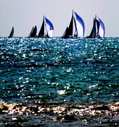 High Seas Metal Prints - Reflection of Sails Metal Print by Karen Wiles