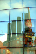 Hard Rock Cafe Building Prints - Reflection of the Hard Rock Plant Print by Nick Busselman