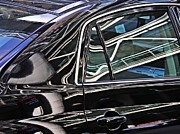 Glass Reflections Framed Prints - Reflection on a Parked Car 2 Framed Print by Sarah Loft