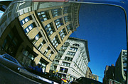 Wing Mirror Photos - Reflection on New York by John Colley