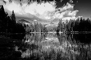 Cloudy Photo Prints - Reflection Pond Print by Cat Connor