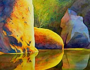 Peaceful Pond Paintings - Reflection by Robert Hooper