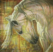 White Horse Paintings - Reflection by Silvana Gabudean