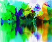 Digital Paintings Landscapes - Reflections 012013 by David Lane