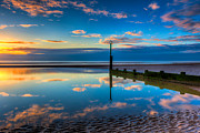 Groyne Prints - Reflections Print by Adrian Evans