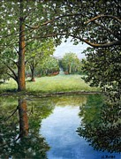 Arboretum Tapestries Textiles Originals - Reflections by Al Hunter