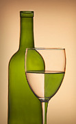 Wine Bottle Prints - Reflections and Refractions Print by Susan Candelario