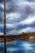 Storm Clouds Paintings - Reflections by Anna-maria Dickinson