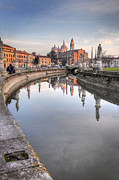 Canal Photos - Reflections at Dusk by Kyla Applegate
