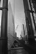 September 11 Wtc Digital Art Posters - REFLECTIONS at THE 9/11 MUSEUM in BLACK AND WHITE Poster by Rob Hans