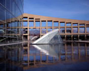 Reflecting Pool Photos - Reflections at the Library by Rona Black