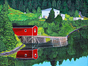 Shed Painting Prints - Reflections Print by Barbara Griffin