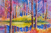 Autumn Landscape Mixed Media - Reflections by Cynthia Roudebush