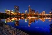 Downtown Austin Prints - Reflections Print by Dave Files