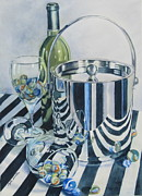 Ice Wine Painting Prints - Reflections Ill Print by Daydre Hamilton