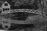 Somesville Maine Prints - Reflections in Black and White Print by Paul Mangold