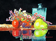 Kathy Braud Rrws Prints - Reflections in Color Print by Kathy Braud