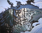 Water Pastels - Reflections in Late Winter by Ruth Greenlaw