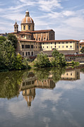 Architecture Photos Art - Reflections in the Arno River by Melany Sarafis